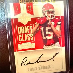 Patrick Mahomes Autographed Rookie RP Card